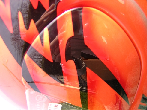 peinture casque aerographe arai shoei  hayabusa candy orange toulouse tarbes