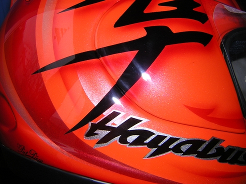 peinture casque aerographe arai shoei  hayabusa candy orange bordeaux gironde